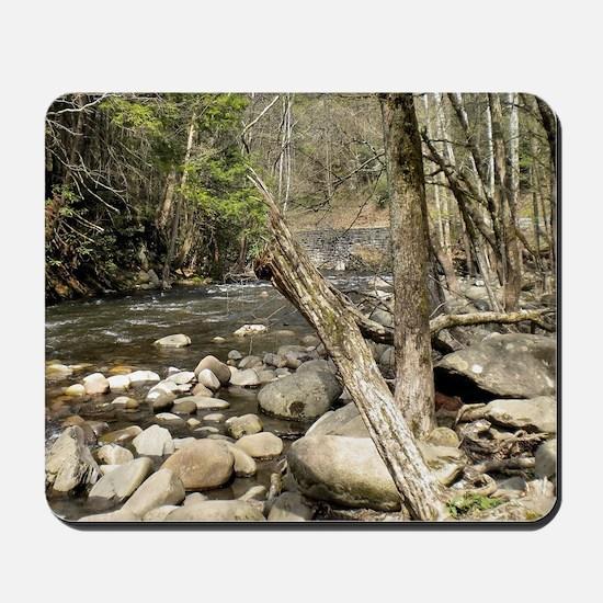 Smoky Mountains Stream Mousepad