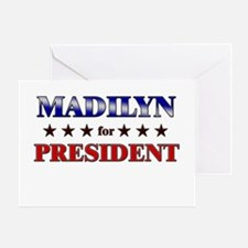 MADILYN for president Greeting Card