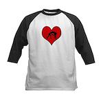 I heart Wrestling Kids Baseball Jersey