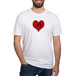 I heart Wrestling Fitted T-Shirt