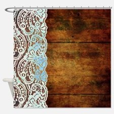Funny Wood look Shower Curtain