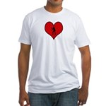 I heart Womens Volleyball Fitted T-Shirt