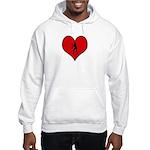I heart Womens Volleyball Hooded Sweatshirt
