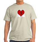I heart Womens Volleyball Light T-Shirt
