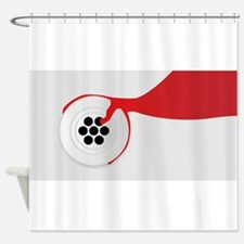 Plughole Blood Shower Curtain