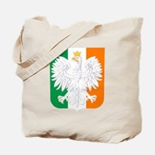Polish Irish Coat of Arms Tote Bag