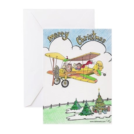 Christmas Airplane Scene Greeting Cards (Pk of 10)