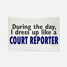 Dress Up Like A Court Reporter Rectangle Magnet