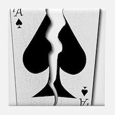 Torn Playing Card Tile Coaster