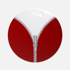 Zipper Round Ornament