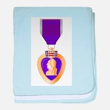 Purple Heart Medal baby blanket