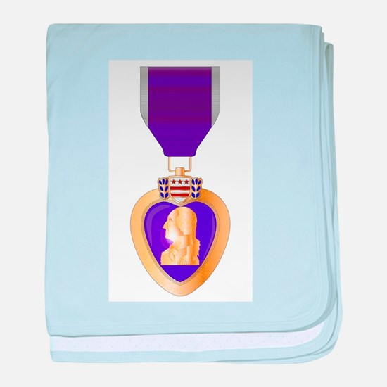 Purple Heart Medal baby blanket