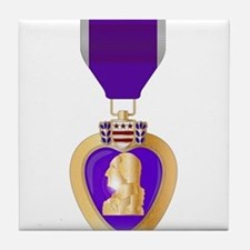 Purple Heart Medal Tile Coaster