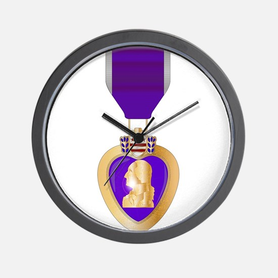 Purple Heart Medal Wall Clock