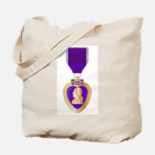 Purple Heart Medal Tote Bag