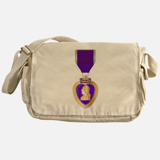 Purple Heart Medal Messenger Bag