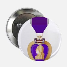 "Purple Heart Medal 2.25"" Button"