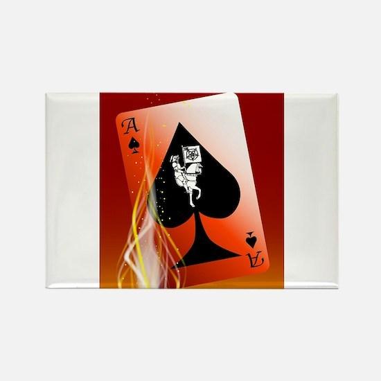 Burning Death Card Magnets