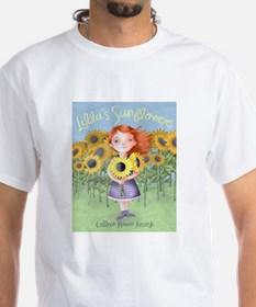 Lilla's Sunflowers Book Cover T-Shirt