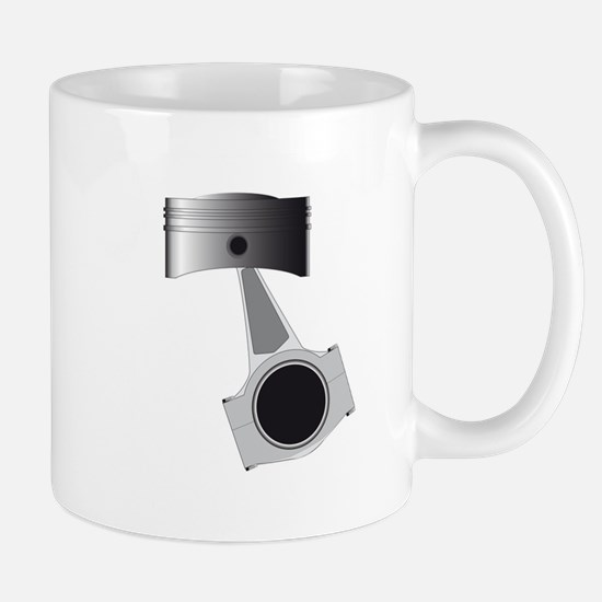 Isolated Auto Piston Mugs