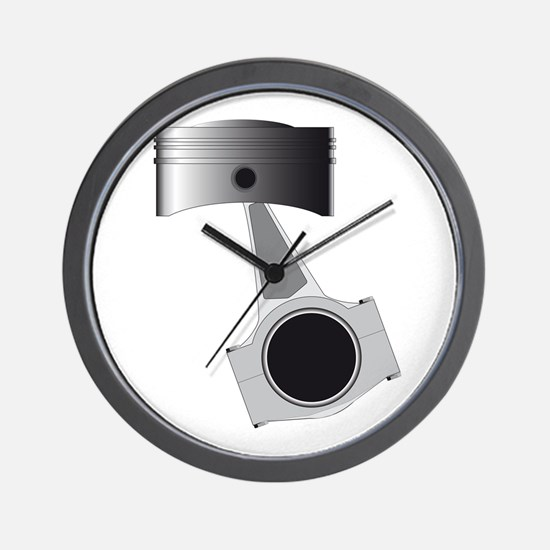 Isolated Auto Piston Wall Clock