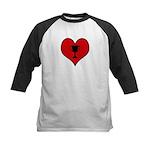 I heart Winner Kids Baseball Jersey