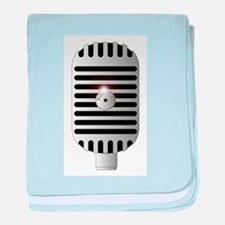 Classic Microphone baby blanket