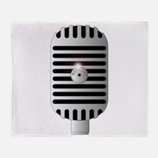 Classic Microphone Throw Blanket
