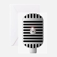 Classic Microphone Greeting Cards