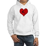I heart Windsurfing Hooded Sweatshirt