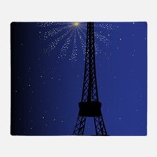 Paris Night Throw Blanket