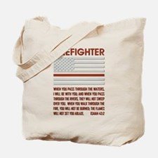 THIN RED LINE Tote Bag