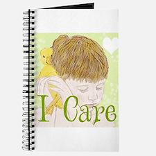 I Care_Boy Cuddling Duckling Journal