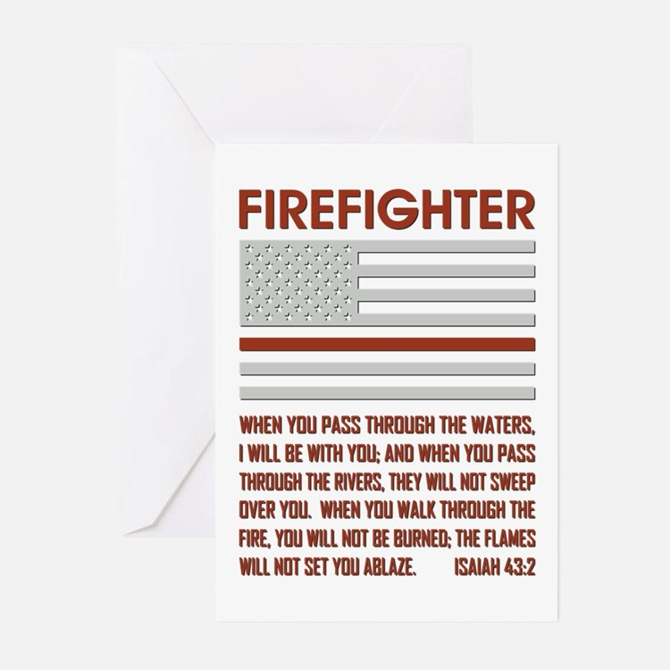 THIN RED LINE Greeting Cards (Pk of 20)