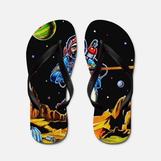 FIGHTING SPACEMAN Flip Flops