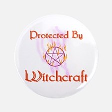 "Protected By Witchcraft 3.5"" Button"