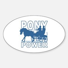 Cute Horse and carriage Sticker (Oval)