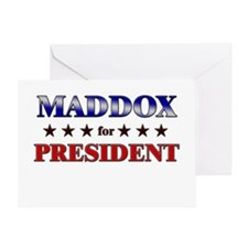 MADDOX for president Greeting Card