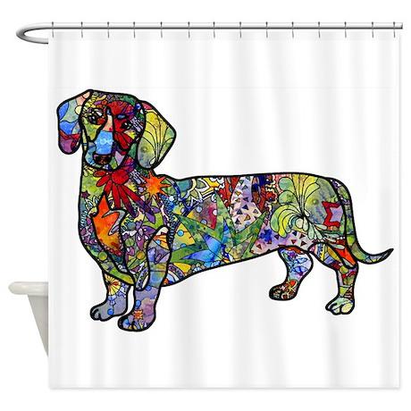Wild Dachshund Shower Curtain