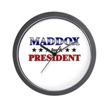 MADDOX for president Wall Clock