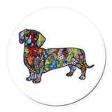 Dachshund Round Car Magnets