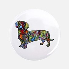 Wild Dachshund Button