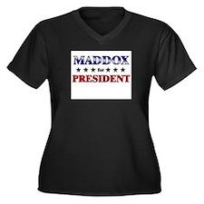 MADDOX for president Women's Plus Size V-Neck Dark