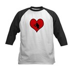 I heart Violin Kids Baseball Jersey