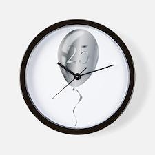 Silver Anniversary Balloon Wall Clock