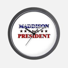 MADDISON for president Wall Clock