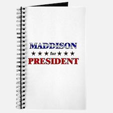 MADDISON for president Journal