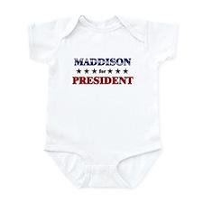 MADDISON for president Infant Bodysuit