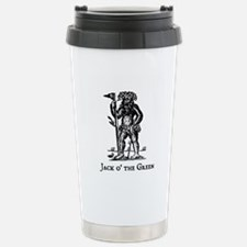 Cute Woodcut Travel Mug