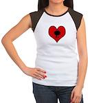 I heart Table Tennis Women's Cap Sleeve T-Shirt